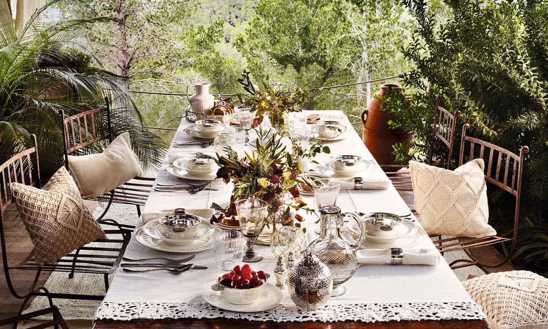 todo lo que necesitas para montar una mesa al aire libre