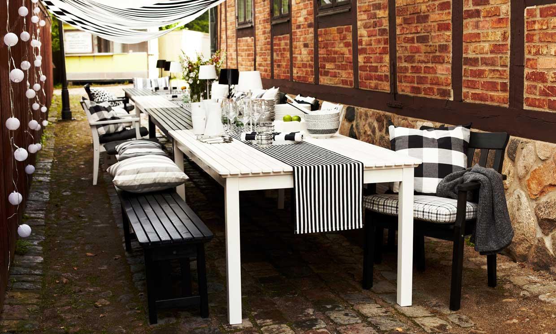 Todo para montar una mesa perfecta al aire libre foto - Caminos de mesa ikea ...