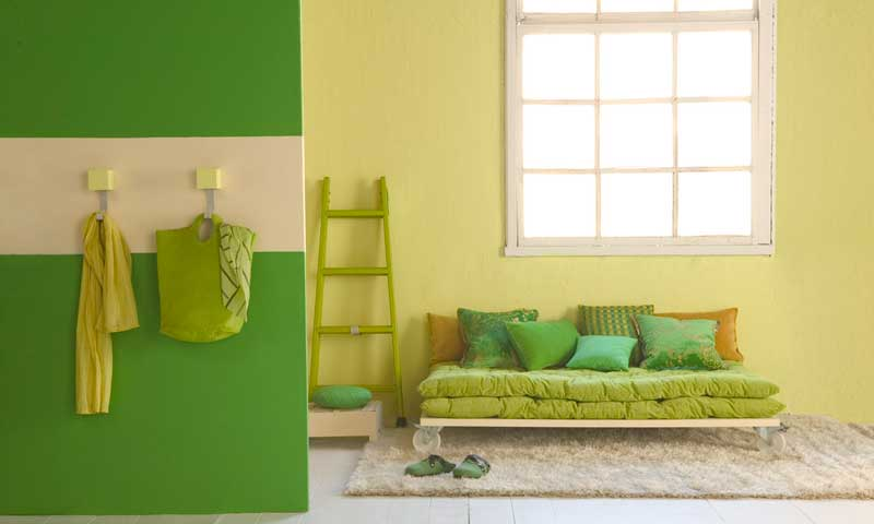 Pintura pared verde affordable imagen with pintura pared for Pintura pared verde