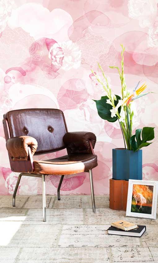 Papeles pintados el traje de moda para tus paredes foto for Murales pintados en paredes de habitaciones