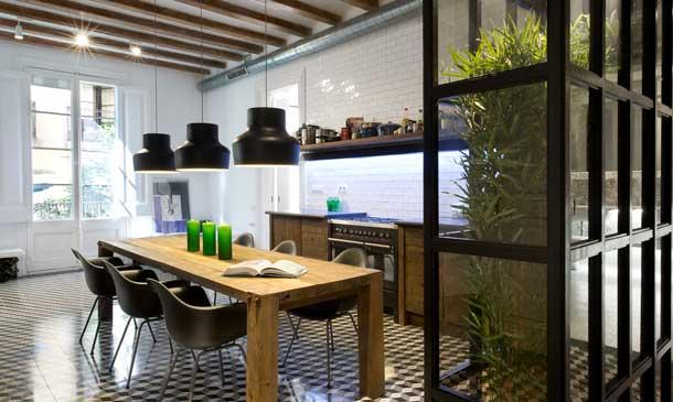 Una casa distribuida alrededor de la cocina