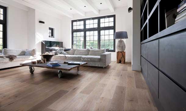 Suelos de madera: pisada natural