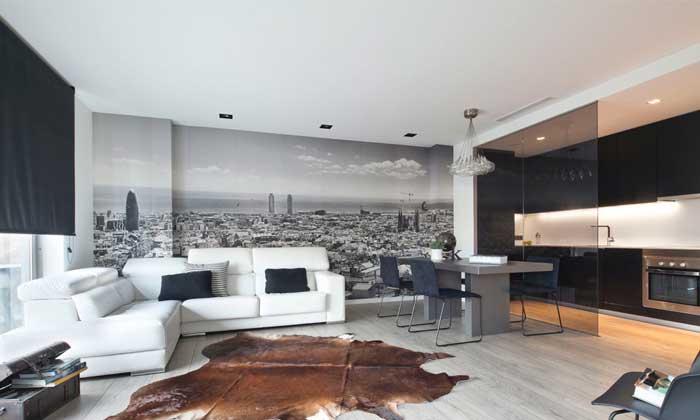 Un tico minimalista y cosmopolita for Decoracion de interiores de casas minimalistas