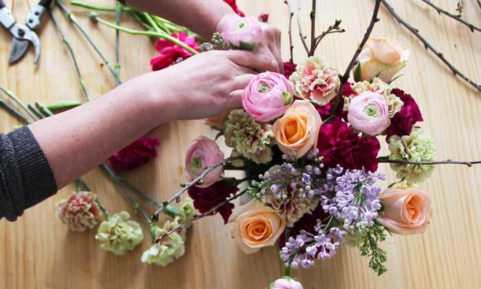 Arreglos florales con espíritu primaveral