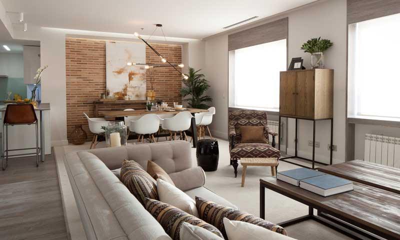 Una casa con espíritu de 'loft' y un cierto aire 'vintage'