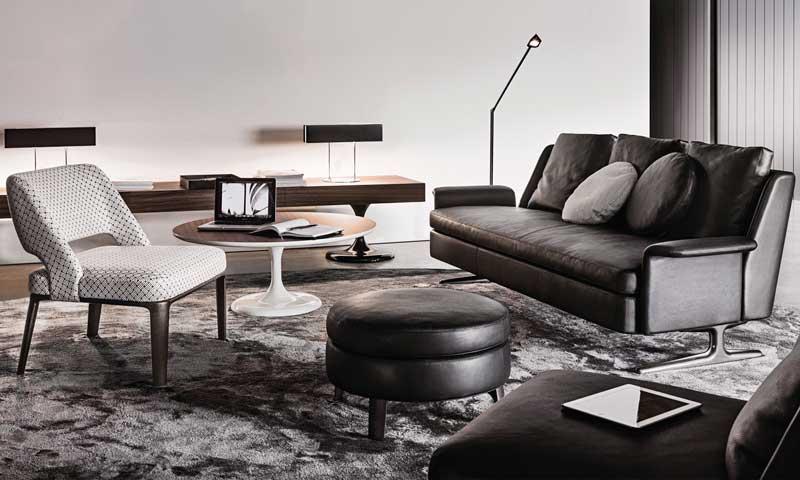 Contemporáneo Muebles De Cuero Tejas Cresta - Muebles Para Ideas de ...