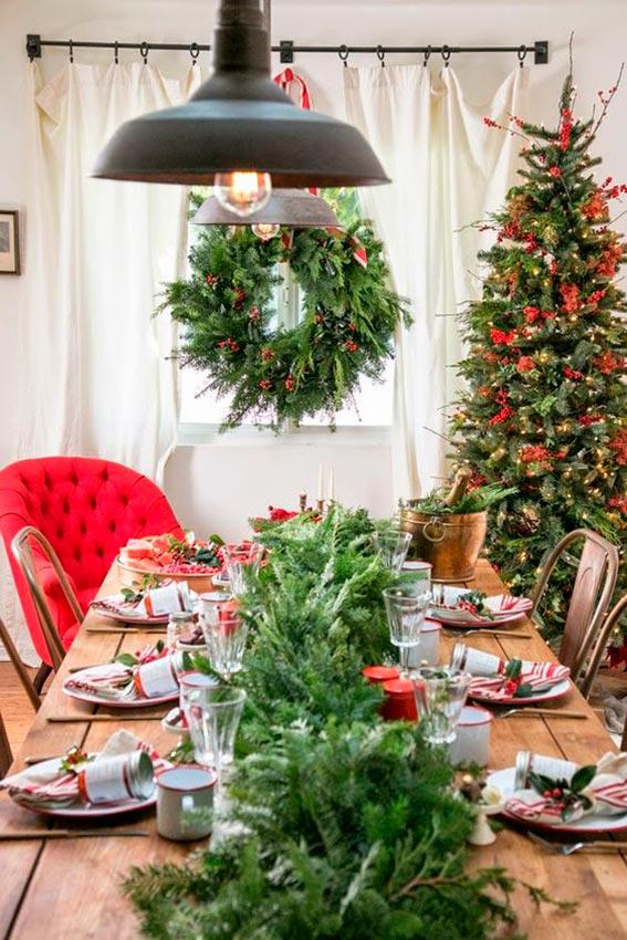 Ideas para montar una mesa de navidad de manera f cil y - Decoracion mesa de navidad ...