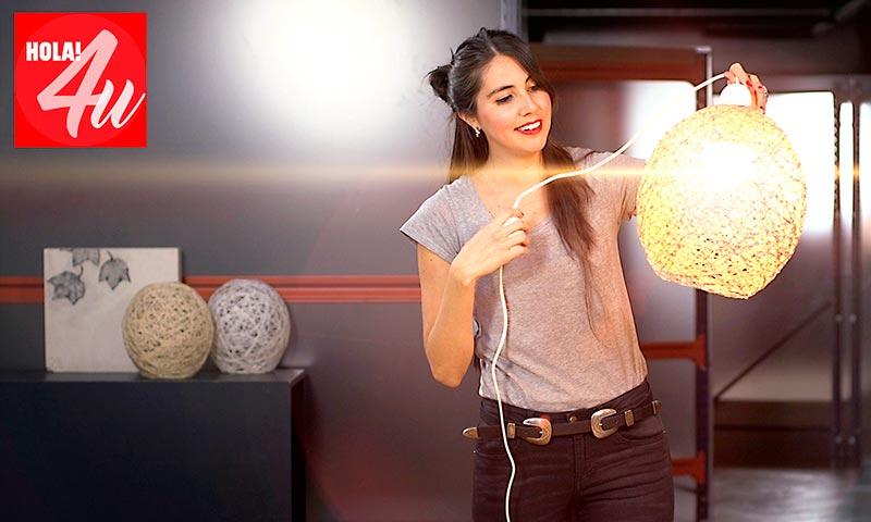 DIY: Haz tu propia lámpara de hilo, por Belu Molina en HOLA!4u