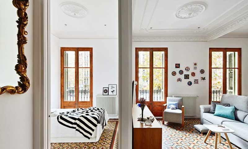 Un piso con alma modernista y espíritu nórdico