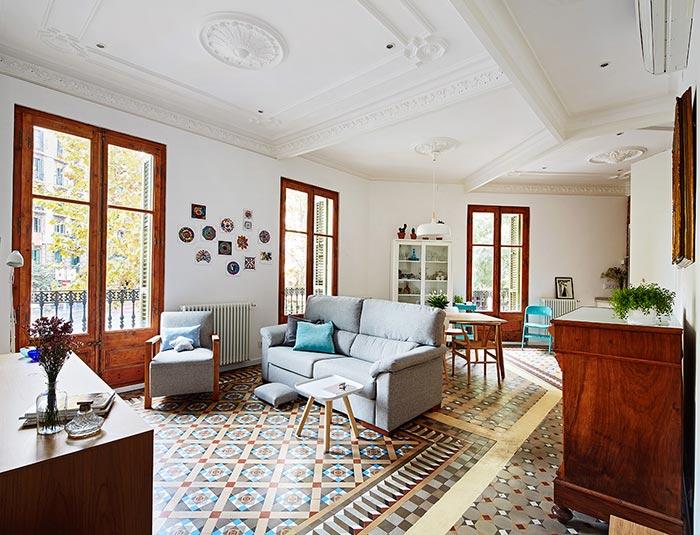 Una casa modernista con un interiorismo nórdico