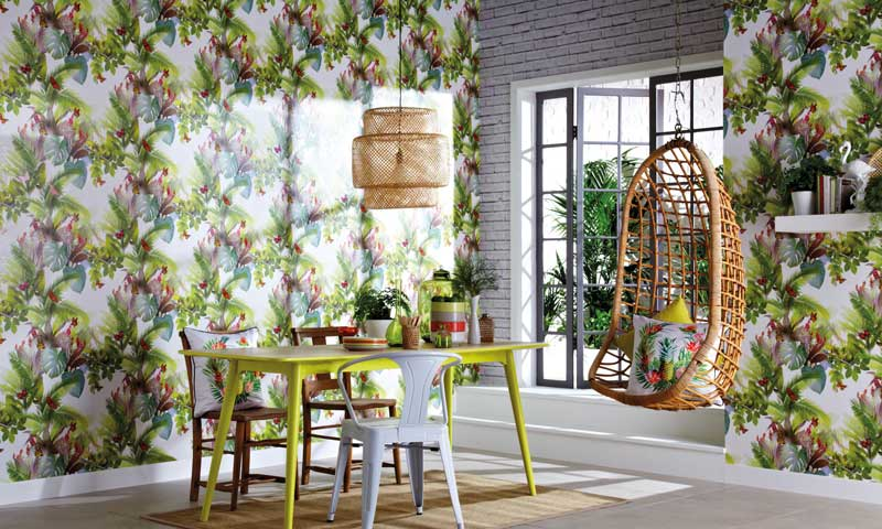 Decoración tropical: la alegría dentro de casa