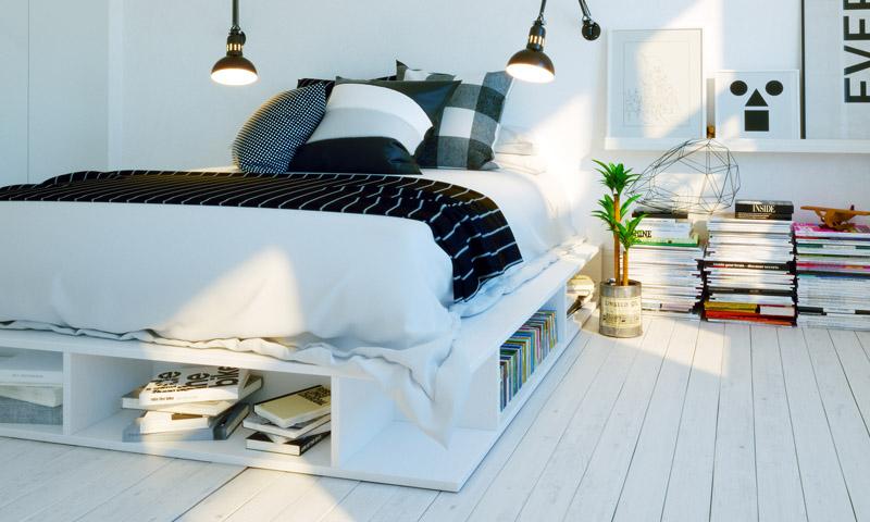 C mo hacer que la habitaci n de invitados parezca m s grande - Como pintar un dormitorio para que parezca mas grande ...