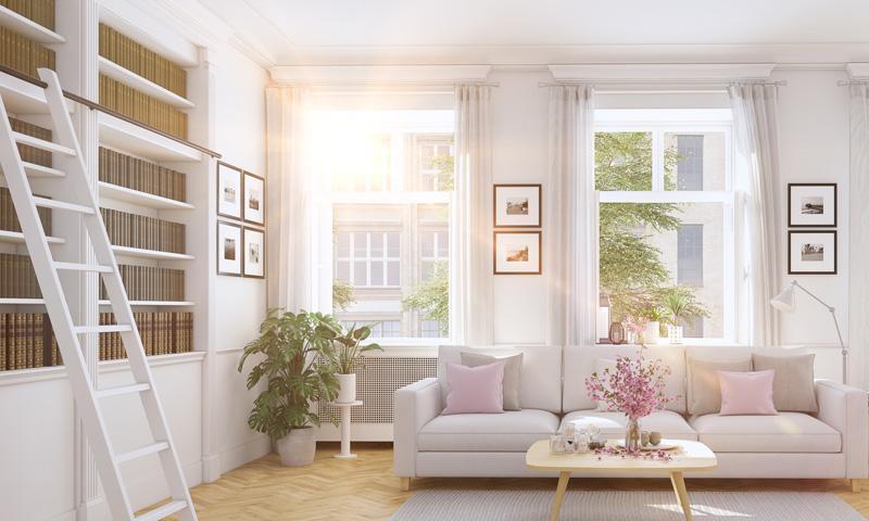 Descubre todas las novedades de 2017 en la tendencia de decoraci n escandinava - Decoracion de cortinas de salon ...