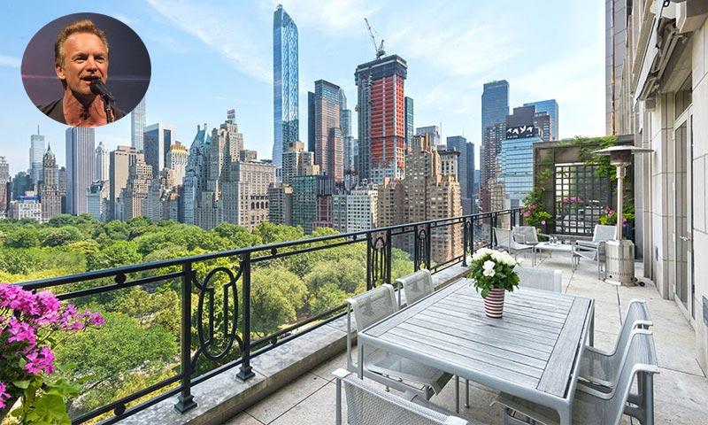 Sting pone a la venta su espectacular ático con vistas al Central Park de Nueva York, ¡pasen y vean!