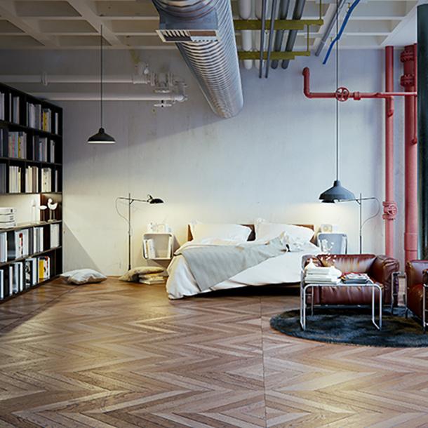 Repasamos el estilo industrial para la decoraci n de salones for Libreria estilo industrial