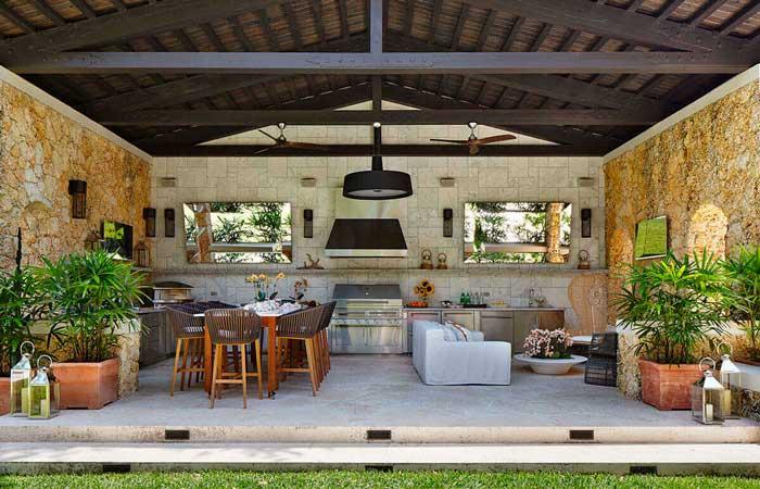 Cocinas para el exterior for Comedores exteriores para terrazas