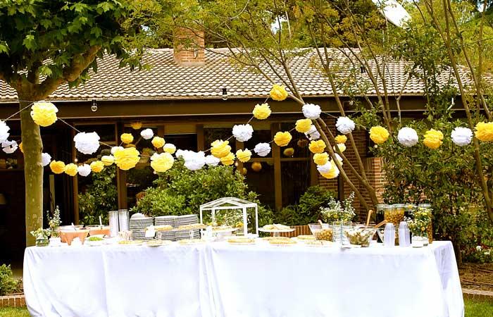 Montar una fiesta en el jard n - Decoracion en jardines ...
