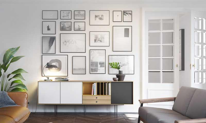 Decorar con cuadros c mo colgar o no tus fotos y obras - Como decorar una pared con cuadros ...
