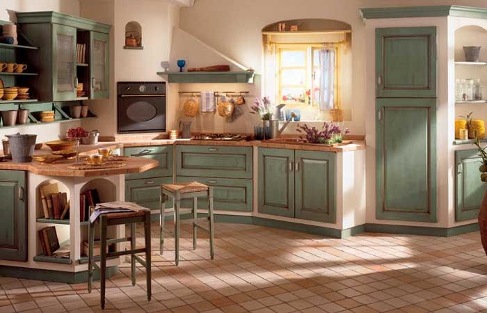 Cocinas con aire rústico