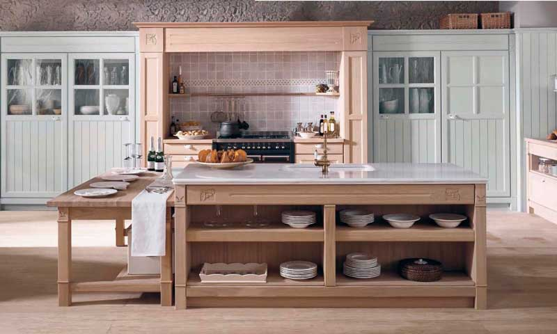 Cocinas con aire r stico del campo a la ciudad foto for Cocinas de casas rusticas