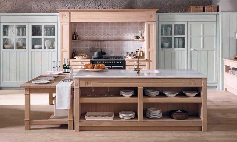Cocinas con aire r stico del campo a la ciudad foto for Modelos de cocinas rusticas