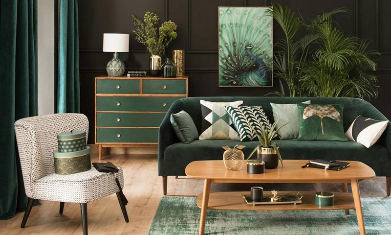 maisons du monde y su tendencia botanica 39 green addict 39. Black Bedroom Furniture Sets. Home Design Ideas