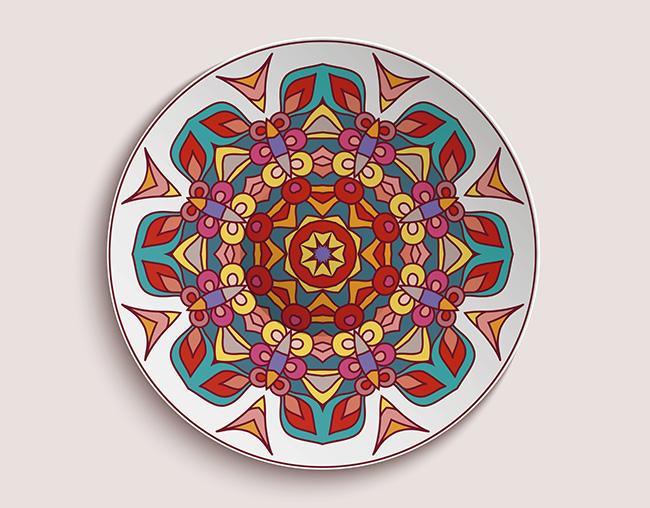 Consigue un 39 plus 39 en la decoraci n de tu hogar con mandalas en platos - Platos decorativos pared ...