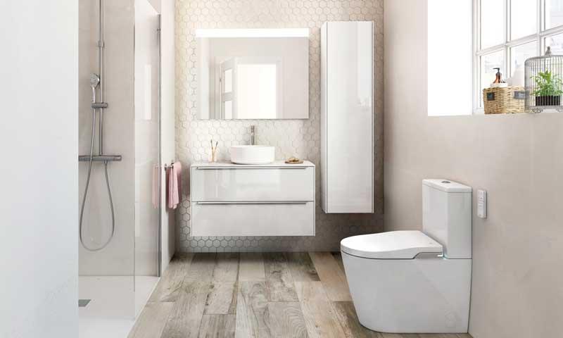 Grandes ideas para ba os peque os foto - Laminas para cuartos de bano ...