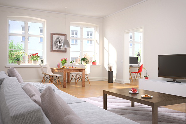 Tips para la decoracin de un saln estrecho y alargado