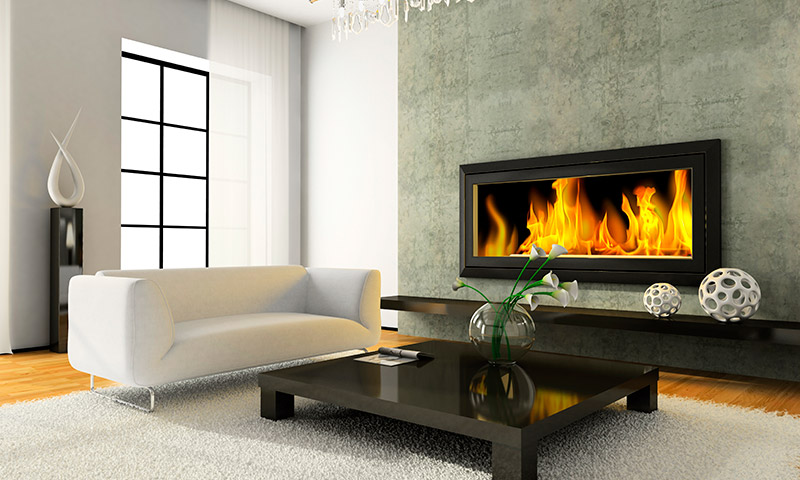 Deslumbra con el calor de tu hogar con esas ideas de chimeneas - Salon de estar decoracion ...