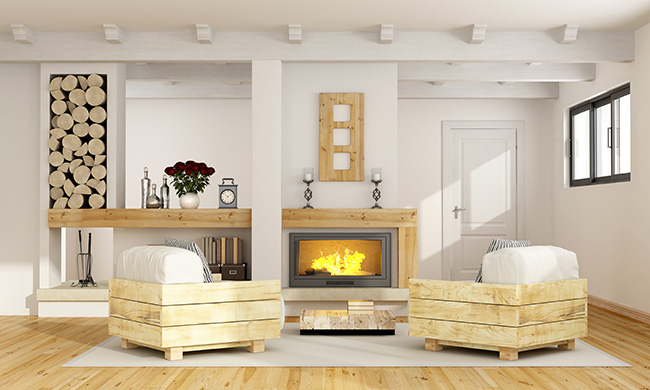 Deslumbra con el calor de tu hogar con esas ideas de chimeneas - Decoracion chimeneas salon ...