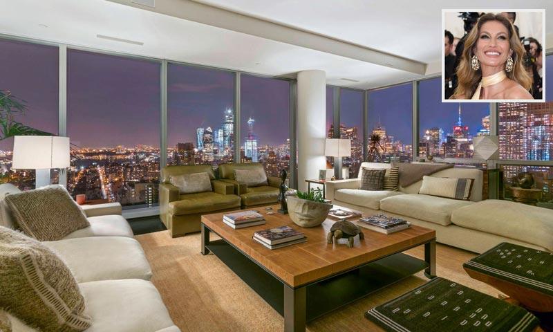 Así es el espectacular apartamento que Gisele Bündchen vende en Nueva York