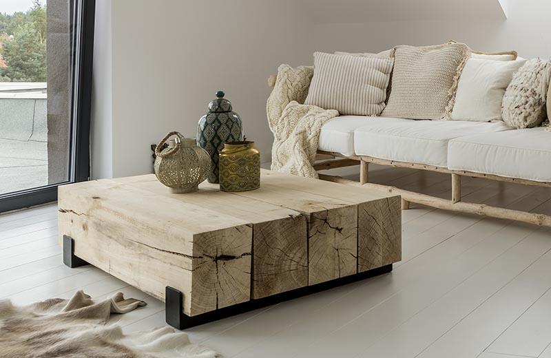 El estilo wabi sabi confía en la madera
