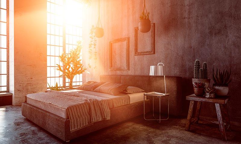 Dormitorios que evocan lo natural
