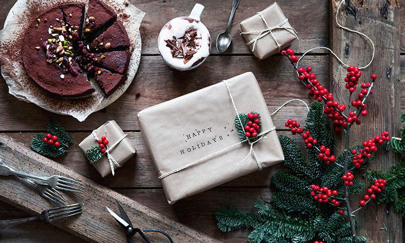 Ideas bonitas y muy fáciles para empaquetar los regalos de Navidad