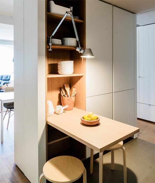 Ideas deco para comer en cocinas pequeñas - Foto