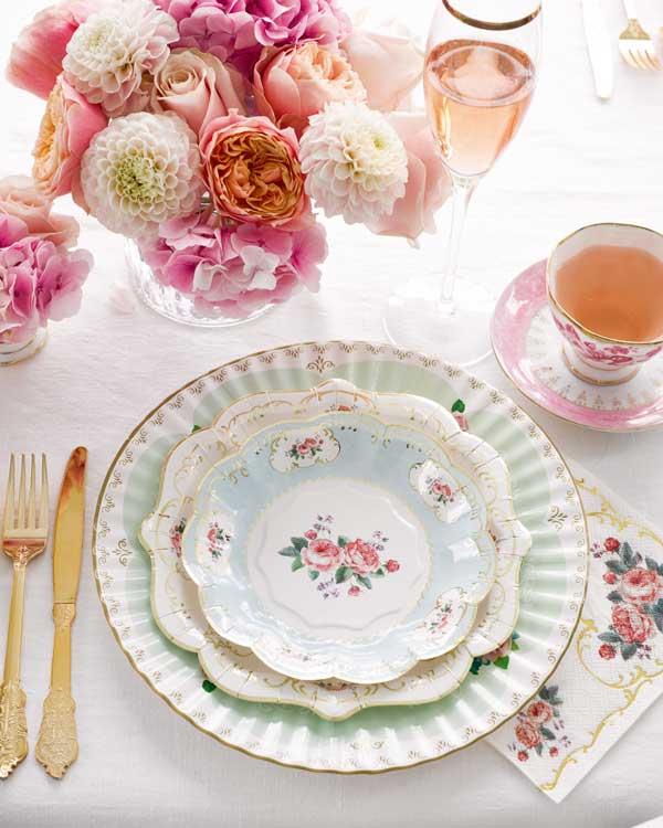 Montar la mesa para San Valentín