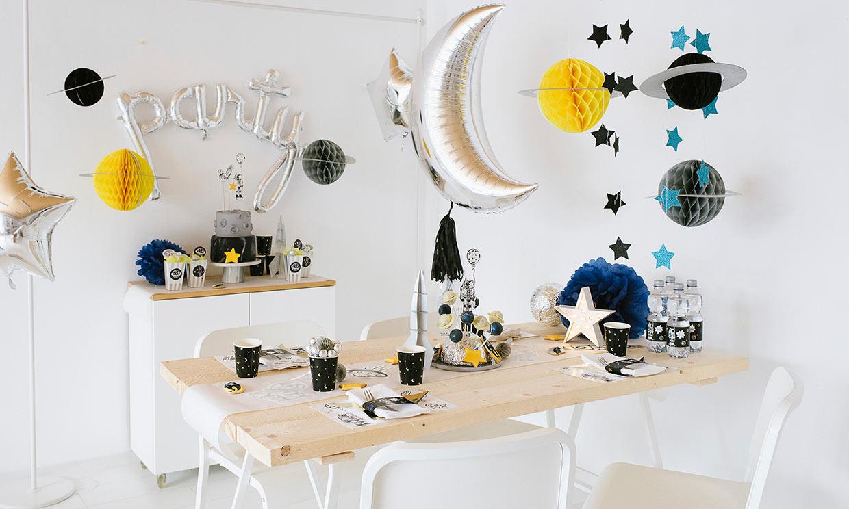 Decoración para una fiesta 'cósmica'