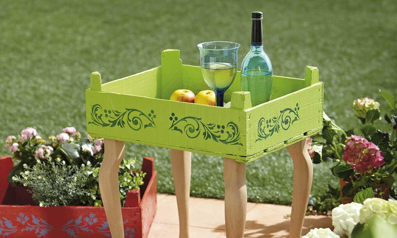 Cómo convertir una caja de fruta en una mesa auxiliar en pocos pasos
