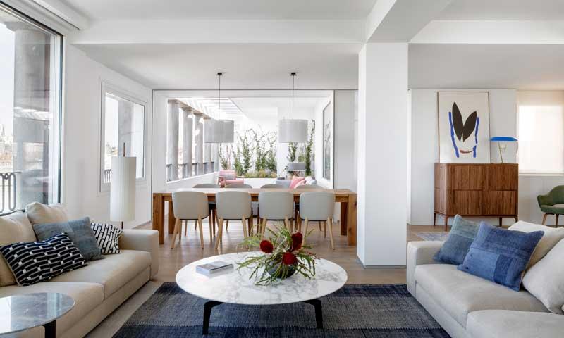 Decoración De Interiores Un ático Moderno Y Elegante Con