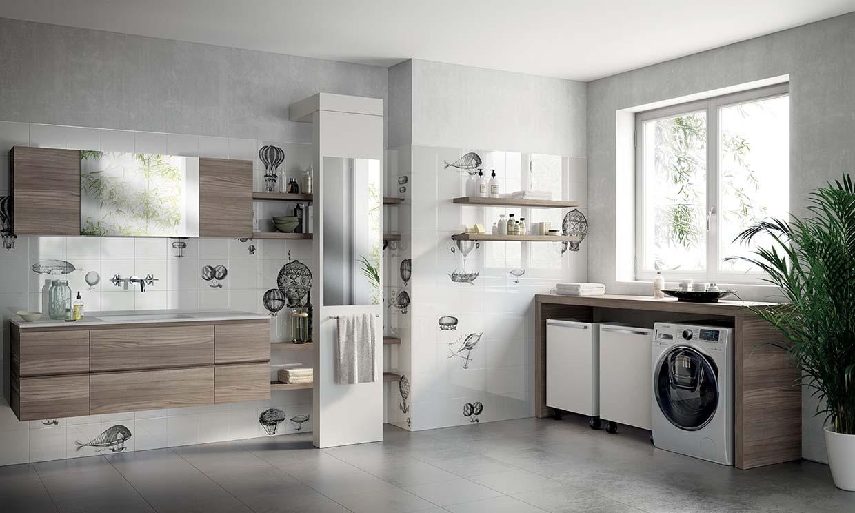 Zonas de lavado: cuando la lavadora no se instala en la cocina - Foto