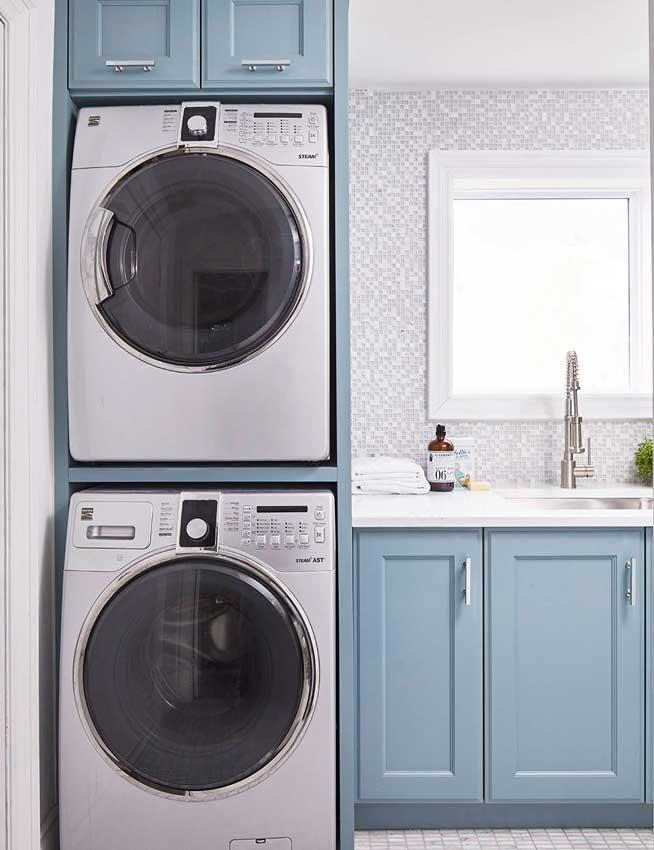 Zonas de lavado cuando la lavadora no se instala en la - Mueble para secadora ...