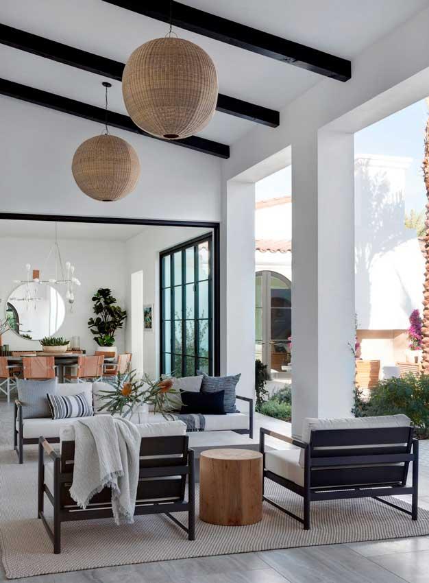 Decoración De Salones Salones Que Se Abren A La Terraza Y Al Porche Foto 1