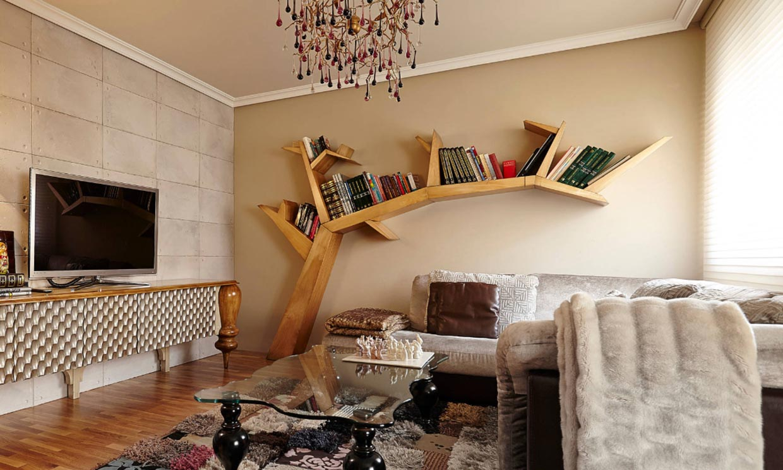 Librerías que dan un toque de personalidad a la decoración de tu casa