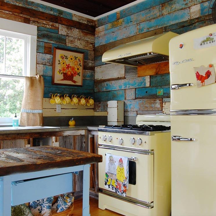 Muebles de cocina ideas de decoraci n para dar un toque - Muebles de cocina retro ...