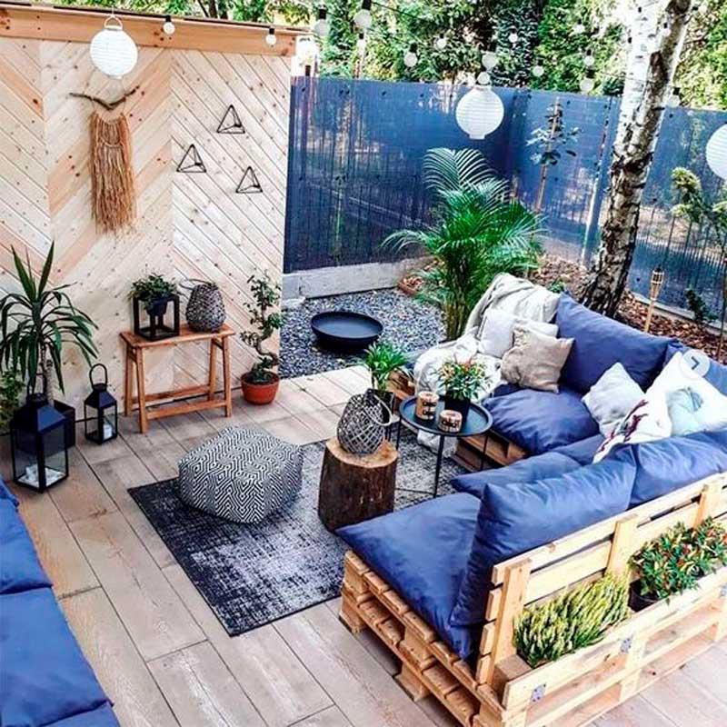 Ideas Para Decorar Tu Jardín Patio O Terraza Con Palets