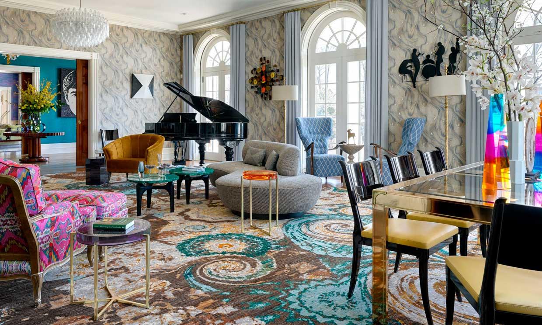 Una casa ecléctica, 'arty' y colorida, tan bella como atrevida