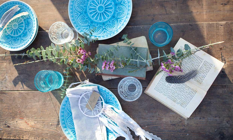 Ideas originales con papel para decorar tu mesa de jardín