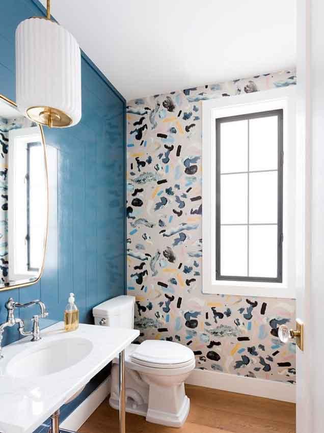 Decoración baños: Elige el papel pintado correcto para el ...