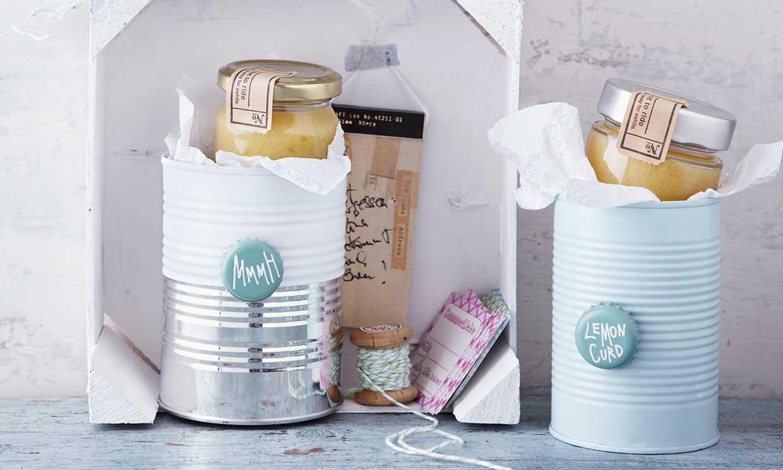 Recicla y elabora originales envoltorios con latas para tus conservas caseras